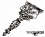 Alchemy Gothic Sacred Cat Silver Hand Mirror | Gothic Home & Gifts